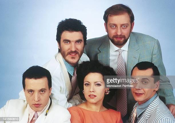 Carlo Marrale Mauro Sabbione Aldo Stellita Giancarlo Golzi and Antonella Ruggiero 1983