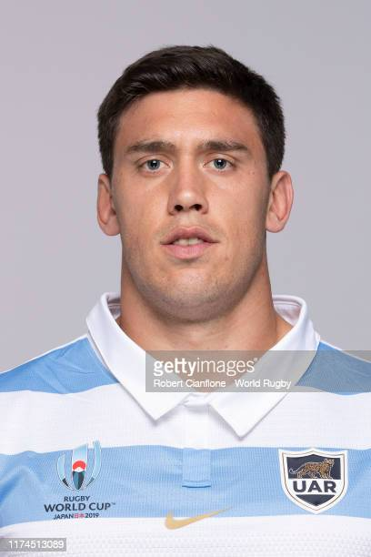 Matias Alemanno of Argentina poses for a portrait during the Argentina Rugby World Cup 2019 squad photo call on September 13, 2019 in Hirono,...
