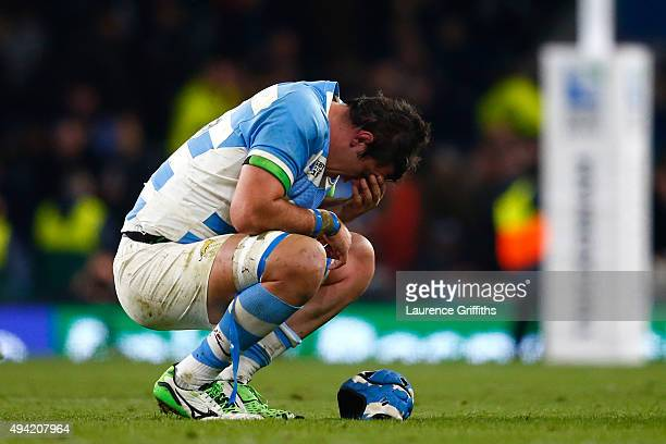 Matias Alemanno of Argentina shows his dejection at the final whistle during the 2015 Rugby World Cup Semi Final match between Argentina and...