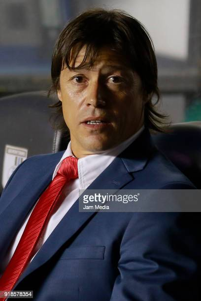 Matias Almeyda coach of Chivas looks on prior the 7th round match between Queretaro and Chivas as part of the Torneo Clausura 2018 Liga MX at...