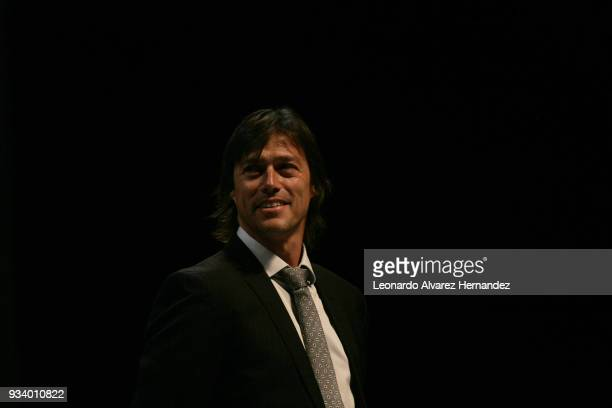 Matias Almeyda coach of Chivas speaks about the Documentary 'Chivas' during the Closing Ceremony of the Guadalajara International Film Festival at...