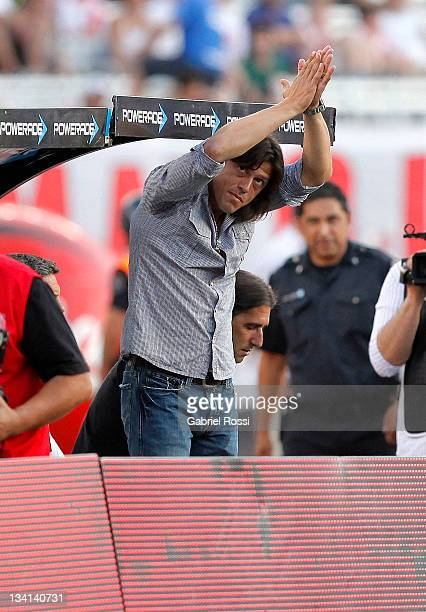 Matias Almeyda Coach of River Plate in action during the match between C A River Plate and C A Rosario Central as part of the National B championship...
