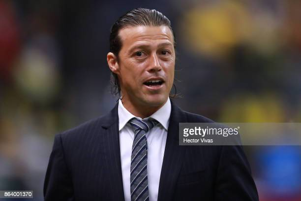 Matias Almeyda Head Coach of Chivas looks on during the 10th round match between America and Chivas as part of the Torneo Apertura 2017 Liga MX at...