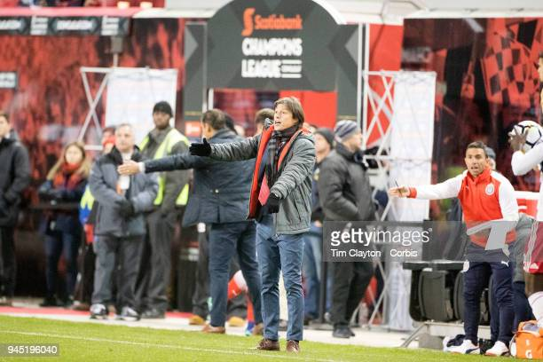 Matias Almeyda Manager of CD Guadalajara on the sideline during the New York Red Bulls Vs CD Guadalajara CONCACAF Champions League Semifinal 2nd leg...