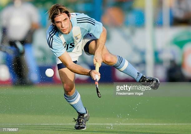Matias Enrique Paredes of Argentina in action during the World Cup Pool A match between Argentina and New Zealand at the Warsteiner Hockey Park on...