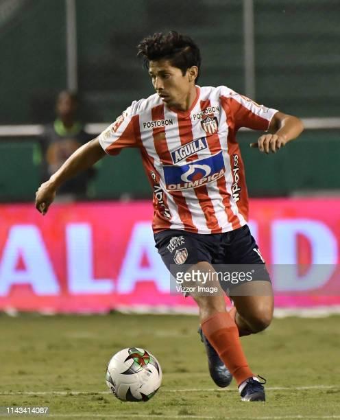 Matias Fernandez of Junior in action during a match between Deportivo de Cali and Junior as part of Torneo Apertura Liga Aguila 2019 at Estadio...