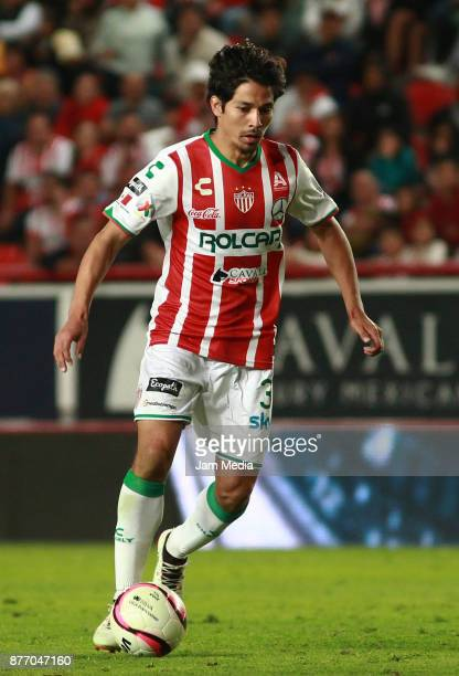 Matias Fernandez of Necaxa drives the ball during the 17nd round match between Necaxa and Morelia as part of the Torneo Apertura 2017 Liga MX at...