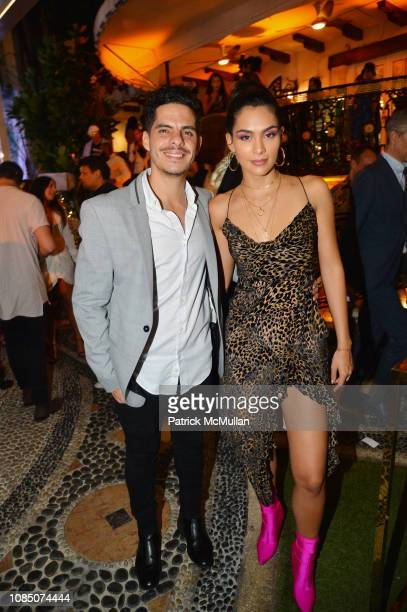Matias Fontenla and Alaya attend What Goes Around Comes Around 25th Anniversary Celebration At The Versace Mansion With A Retrospective Tribute To...