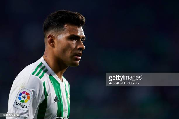 Matias Nahuel of Real Betis reacts during the Copa del Rey Round of 32 Second Leg match between Real Betis Balompie and Cadiz CF at Estadio Benito...