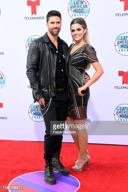 Matias Novoa and Isabella Castillo attend the 2019 Latin American Music Awards at Dolby Theatre on October 17 2019 in Hollywood California