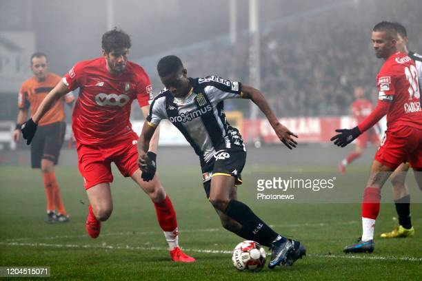 Matias Nurio Fortuna defender of Charleroi during the Jupiler Pro League match between Sporting Charleroi and Standard de Liege on February 28 2020...