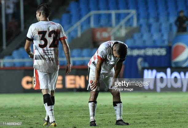 Matias Perez Garcia of Cucuta looks disappointed after the match between America de Cali and Cucuta Deportivo as part of the Liga Aguila 2019 at...