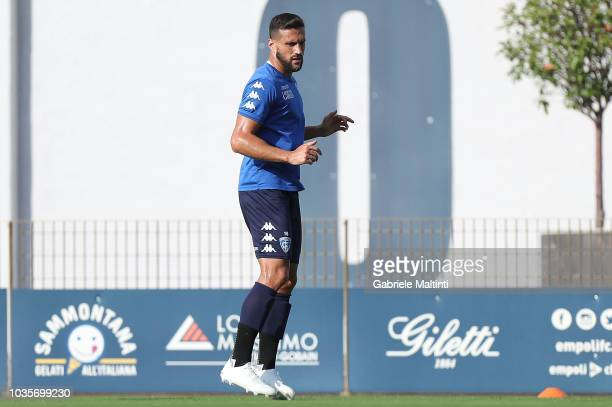 Matias Silvestre of Empoli FC in action during training session on September 18 2018 in Empoli Italy