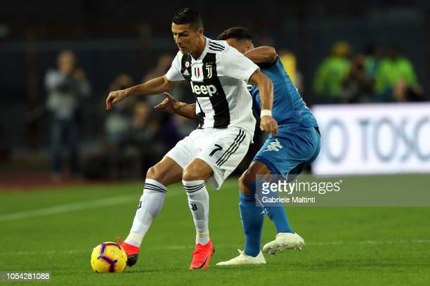 Matias Silvestre of Empoli Fc in actionagainst Cristiano Ronaldo of Juventus during the Serie A match between Empoli and Juventus at Stadio Carlo...