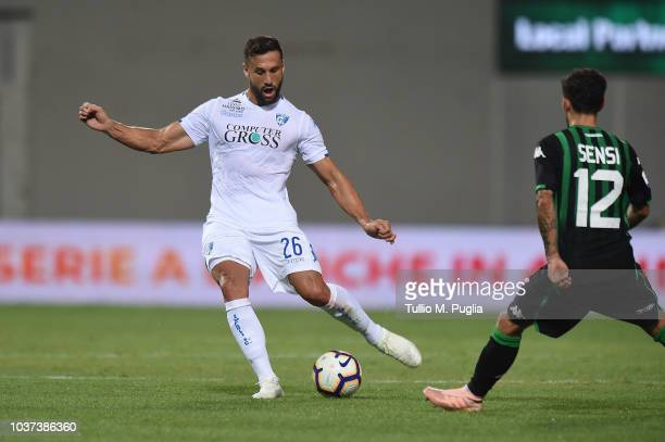 Matias Silvestre of Empoli in action during the serie A match between US Sassuolo and Empoli at Mapei Stadium Citta' del Tricolore on September 23...