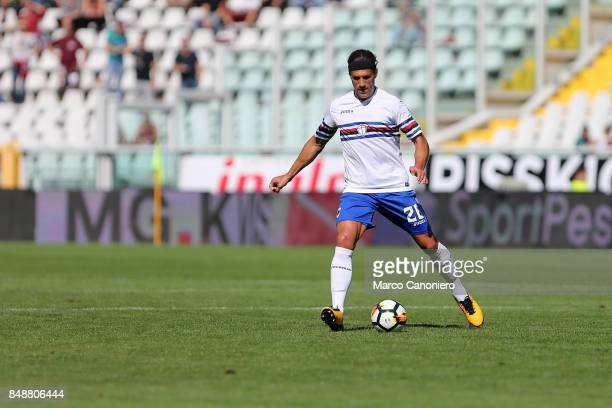Matias Silvestre of UC Sampdoria in action during the Serie A football match between Torino Fc and Uc Sampdoria