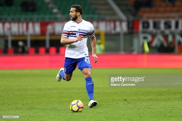 Matias Silvestre of UC Sampdoria in action during the Serie A football match between Ac Milan and Uc Sampdoria Ac Milan wins 10 over Uc Sampdoria