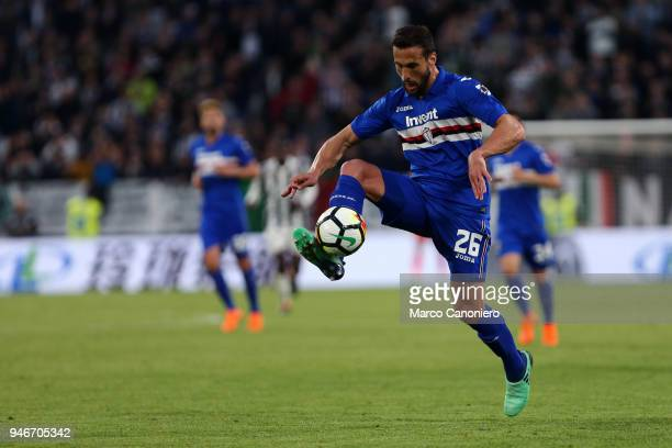 Matias Silvestre of UC Sampdoria in action during the Serie A football match between Juventus Fc and Uc Sampdoria Juventus Fc wins 30 over Uc...
