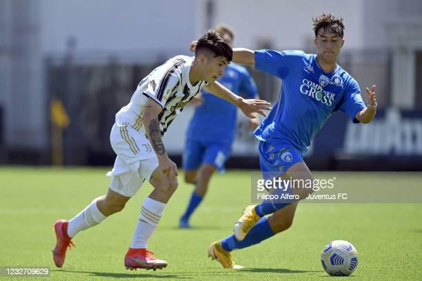 Matias Soule of Juventus during the Primavera 1 TIM match between Juventus U19 and Empoli FC U19 at Juventus Center Vinovo on May 05, 2021 in Vinovo,...