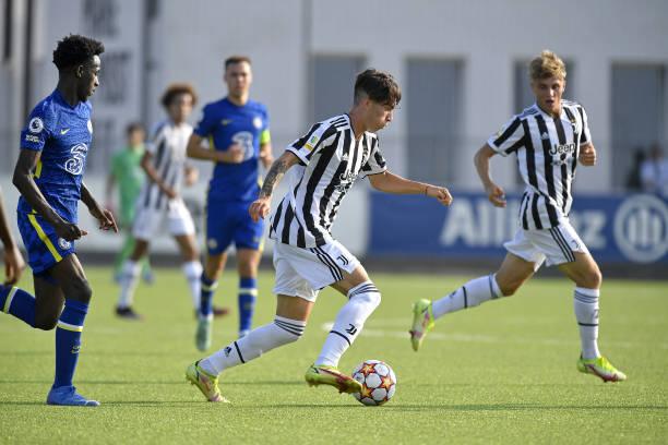 Matias Soule of Juventus during the UEFA Youth League match between Juventus U19 and Chelsea FC U19 at Juventus Center Vinovo on September 29, 2021...