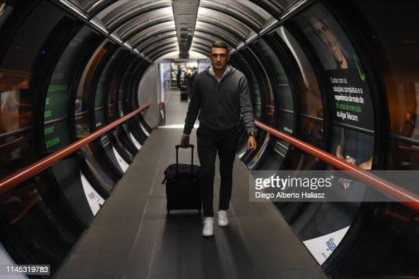 Matias Suarez of River Plate arrives to Brazil May 20 2019 in Curitiba Brazil River Plate will face Atletico Paranaense as part of Recopa CONMEBOL...