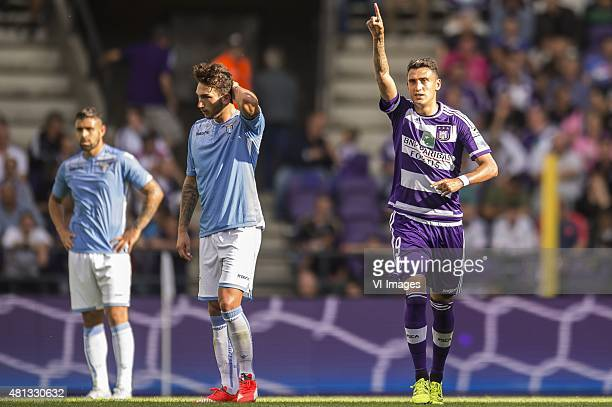 Matias Suarez of RSC Anderlecht during the preseason friendly match between RSC Anderlecht and SS Lazio Roma on July 19 2015 at the Constant Vanden...