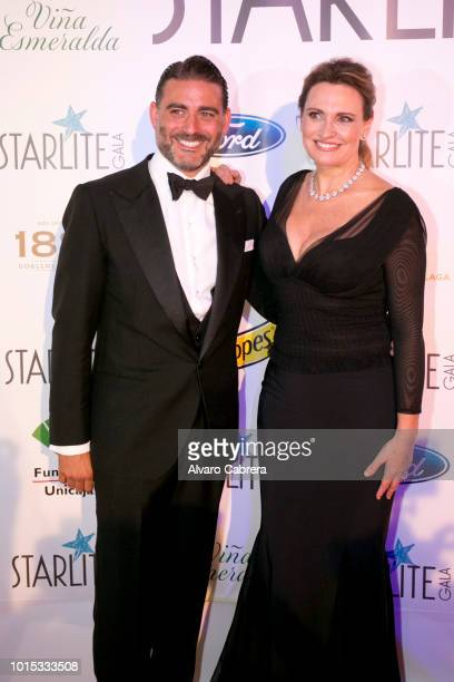 Matias Urrea and Ainhoa Arteta attend the Stalite Gala on August 11 2018 in Marbella Spain