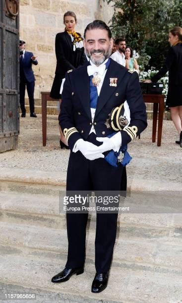 Matias Urrea attends Ainhoa Arteta's wedding on June 23 2019 at Castillo de San Marcos in Cadiz Spain