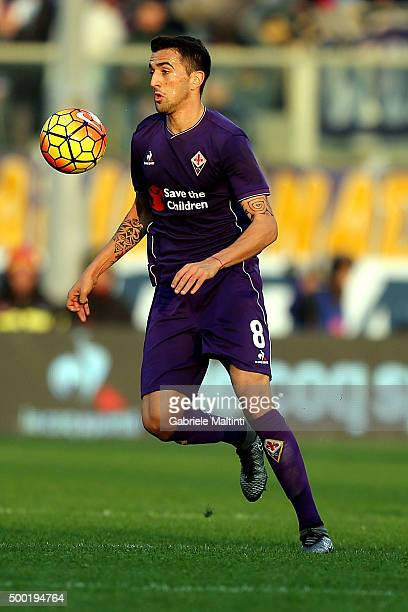 Matias Vecino of ACF Fiorentina in action during the Serie A match between ACF Fiorentina and Udinese Calcio at Stadio Artemio Franchi on December 6...