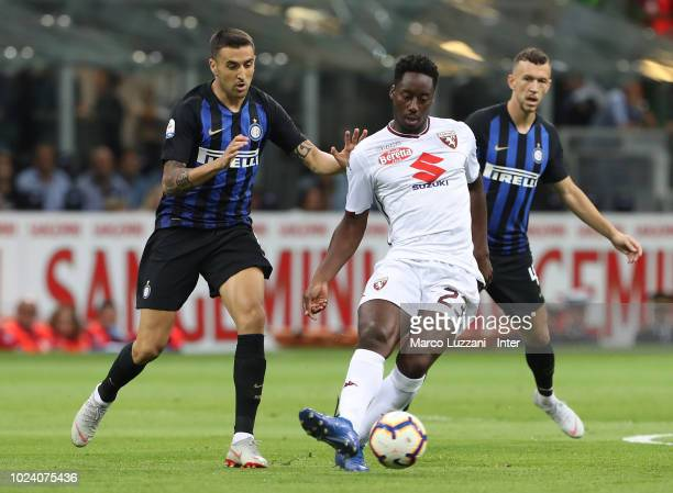 Matias Vecino of FC Internazionale competes for the ball with Soualiho Meite of Torino FC during the serie A match between FC Internazionale and...