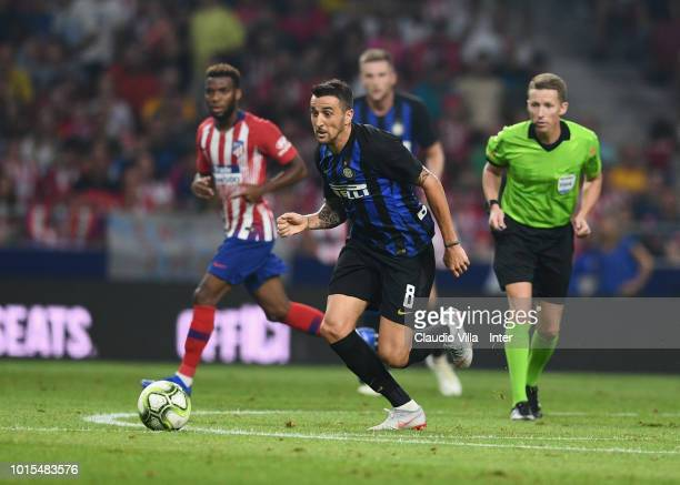 Matias Vecino of FC Internazionale in action during the International Champions Cup 2018 match between Atletico Madrid and FC Internazionale at...