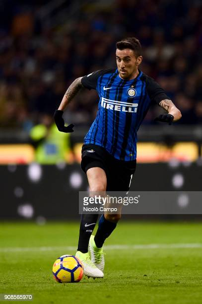 Matias Vecino of FC Internazionale in action during the Serie A football match between FC Internazionale and AS Roma The match ended in a 11 tie