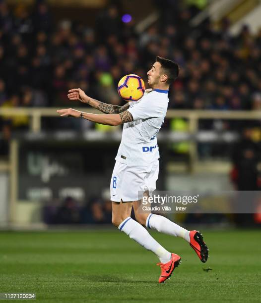 Matias Vecino of FC Internazionale in action during the Serie A match between ACF Fiorentina and FC Internazionale at Stadio Artemio Franchi on...