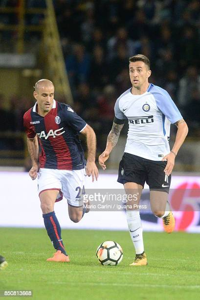 Matias Vecino of FC Internazionale in action during the Serie A match between Bologna FC and FC Internazionale at Stadio Renato Dall'Ara on September...