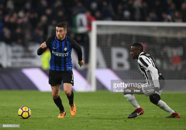 Matias Vecino of FC Internazionale in action during the Serie A match between Juventus and FC Internazionale on December 9 2017 in Turin Italy
