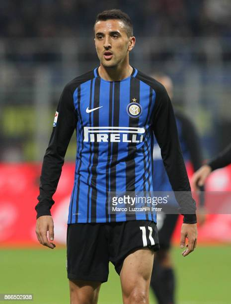 Matias Vecino of FC Internazionale looks on during the Serie A match between FC Internazionale and UC Sampdoria at Stadio Giuseppe Meazza on October...