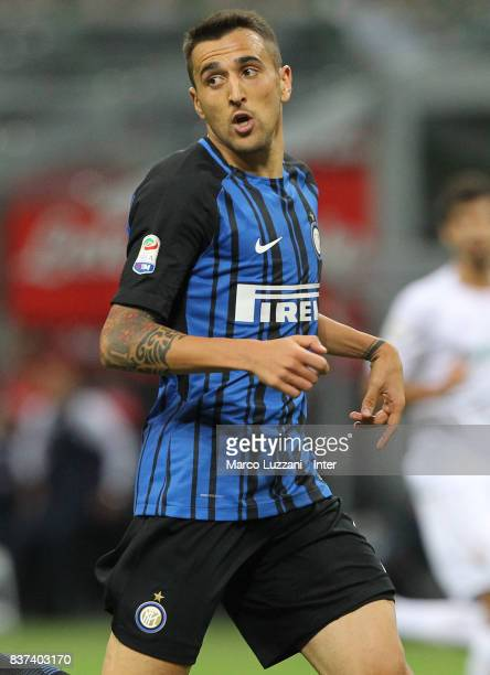Matias Vecino of FC Internazionale Milano looks on during the Serie A match between FC Internazionale and ACF Fiorentina at Stadio Giuseppe Meazza on...