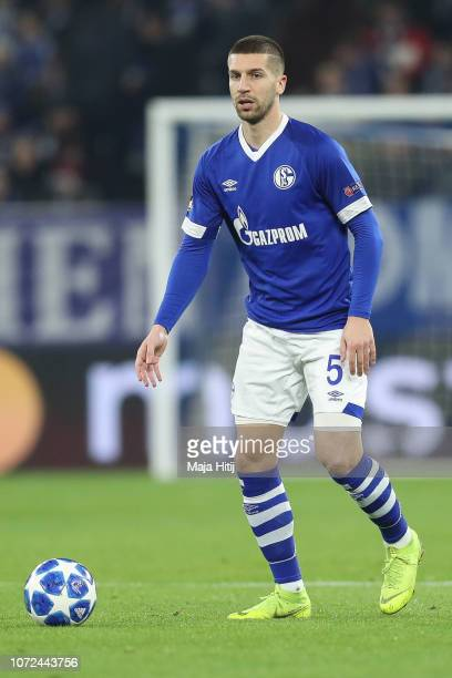 Matija Nastasic of FC Schalke 04 controls the ball during the UEFA Champions League Group D match between FC Schalke 04 and FC Lokomotiv Moscow at...