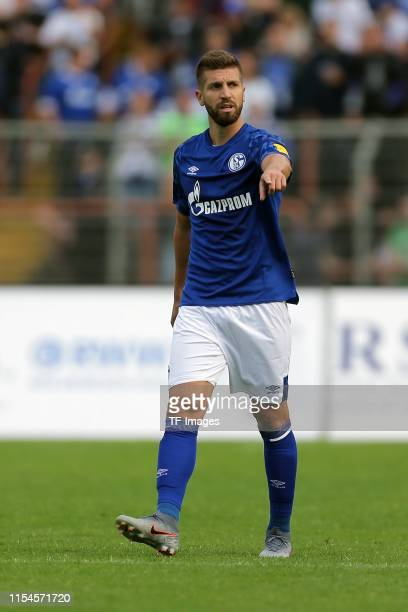 Matija Nastasic of FC Schalke 04 gestures during the preseason friendly match between RW Oberhausen and Schalke 04 on July 07 2019 in Oberhausen...
