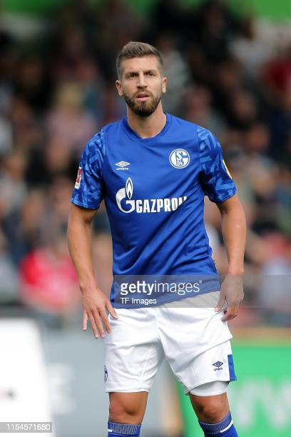 Matija Nastasic of FC Schalke 04 looks on during the preseason friendly match between RW Oberhausen and Schalke 04 on July 07 2019 in Oberhausen...