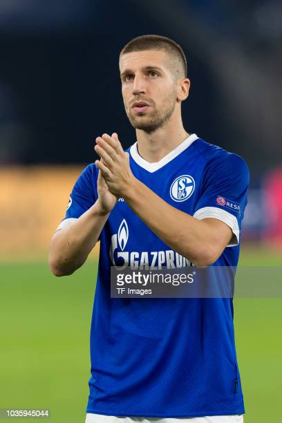 Matija Nastasic of FC Schalke looks dejected after the UEFA Champions League Group D match between FC Schalke 04 and FC Porto at VeltinsArena on...