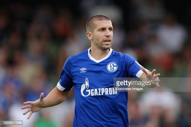 Matija Nastasic of Schalke 04 during the Club Friendly match between Schalke 04 v Schwarz Weiss Essen at the Uhlenkrugstadion on July 21 2018 in...