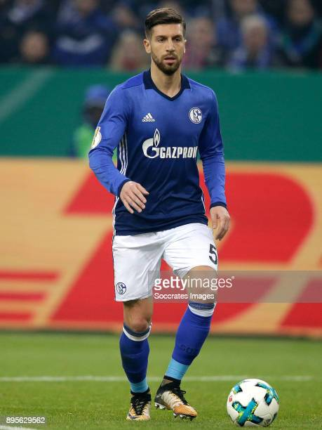 Matija Nastasic of Schalke 04 during the German DFB Pokal match between Schalke 04 v 1 FC Koln at the Veltins Arena on December 19 2017 in...