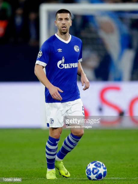 Matija Nastasic of Schalke 04 during the UEFA Champions League match between Schalke 04 v Galatasaray at the Veltins Arena on November 6 2018 in...