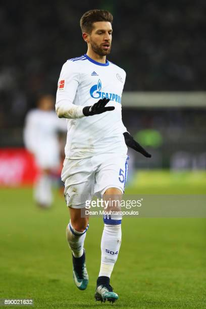Matija Nastasic of Schalke 04 in action during the Bundesliga match between Borussia Moenchengladbach and FC Schalke 04 at BorussiaPark on December 9...