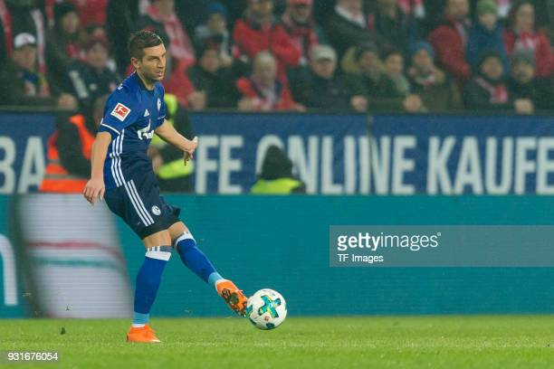 Matija Nastasic of Schalke controls the ball during the Bundesliga match between 1 FSV Mainz 05 and FC Schalke 04 at Opel Arena on March 9 2018 in...