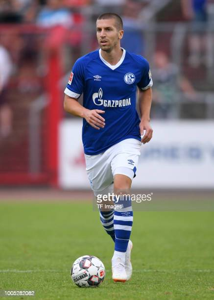 Matija Nastasic of Schalke controls the ball during the Friendly match between Schwarz Weiss Essen and FC Schalke 04 on July 21 2018 in Essen Germany