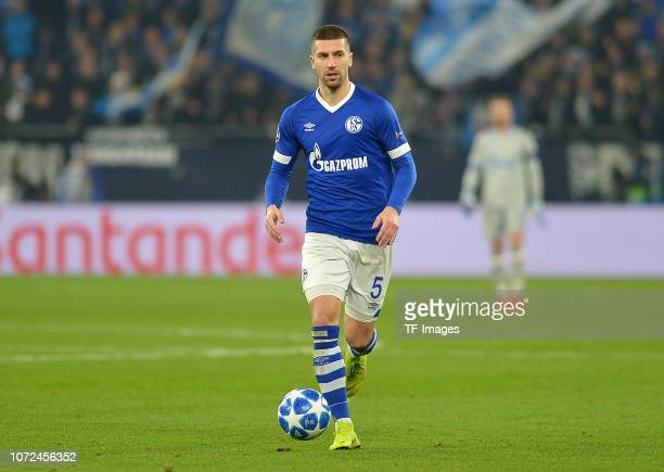 Matija Nastasic of Schalke controls the ball during the UEFA Champions League Group D match between FC Schalke 04 and FC Lokomotiv Moscow at...