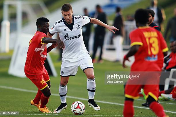 Matija Nastasic of Schalke during a friendly match between FC Schalke 04 and AlMerrikh SC at ASPIRE Academy for Sports Excellence on January 15 2015...