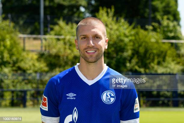 Matija Nastasic of Schalke poses during the team presentation on July 16 2018 in Gelsenkirchen Germany
